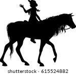 Horse Rider Silhouette  ...