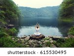Serenity And Yoga Practicing A...