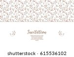 vector decorative frame  in... | Shutterstock .eps vector #615536102