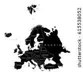 territory of europe. vector... | Shutterstock .eps vector #615538052