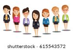 group of business  women ... | Shutterstock .eps vector #615543572