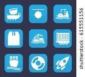 Ship Icon. Set Of 9 Filled Shi...