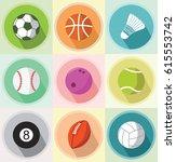 sport ball set | Shutterstock .eps vector #615553742