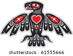 eagle in native art style with... | Shutterstock .eps vector #61555666