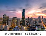 cityscape of bangkok city at... | Shutterstock . vector #615563642