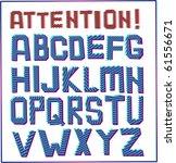 alphabet   Shutterstock .eps vector #61556671