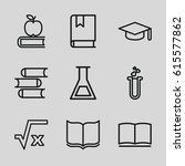 study icons set. set of 9 study ... | Shutterstock .eps vector #615577862