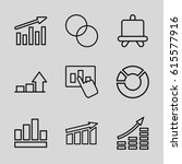 diagram icons set. set of 9... | Shutterstock .eps vector #615577916