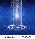 vector abstract background hi... | Shutterstock .eps vector #615583682