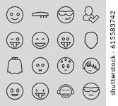 character icons set. set of 16... | Shutterstock .eps vector #615583742
