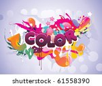 color text vector illustration | Shutterstock .eps vector #61558390