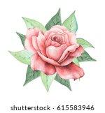 hand painted watercolor...   Shutterstock . vector #615583946