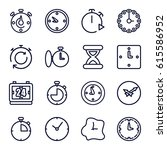 second icons set. set of 16... | Shutterstock .eps vector #615586952