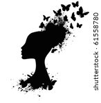Silhouette Of A Butterfly Quee...