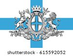 flag of marseille is a capital... | Shutterstock .eps vector #615592052