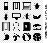 painting icons set. set of 16... | Shutterstock .eps vector #615592136