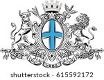coat of arms of marseille is a... | Shutterstock .eps vector #615592172