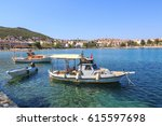 some boats with datca beach and ...   Shutterstock . vector #615597698