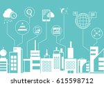 network and data analytics... | Shutterstock .eps vector #615598712