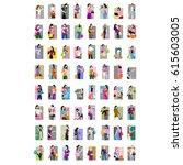 set of vector women | Shutterstock .eps vector #615603005