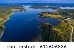 the coves of a large lake.... | Shutterstock . vector #615606836