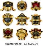 decorative ornate golden frame | Shutterstock .eps vector #61560964