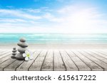 stack of pebble stones and... | Shutterstock . vector #615617222