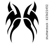 tattoo sketch tribal vector... | Shutterstock .eps vector #615621452