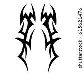 tattoo sketch tribal vector... | Shutterstock .eps vector #615621476
