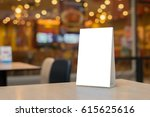 mock up label the blank menu... | Shutterstock . vector #615625616