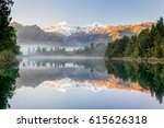 southern alps with mount cook... | Shutterstock . vector #615626318
