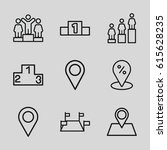 position icons set. set of 9...   Shutterstock .eps vector #615628235