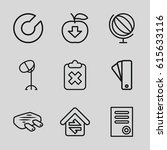 web icons set. set of 9 web... | Shutterstock .eps vector #615633116