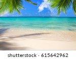 beautiful caribbean sea and... | Shutterstock . vector #615642962