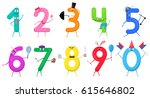 cute fun colorful collection...   Shutterstock .eps vector #615646802