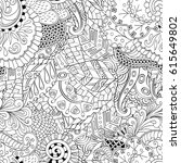 tracery seamless pattern.... | Shutterstock .eps vector #615649802