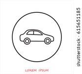 line icon  car | Shutterstock .eps vector #615651185