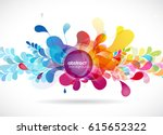 abstract colored flower... | Shutterstock .eps vector #615652322