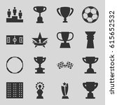 championship icons set. set of... | Shutterstock .eps vector #615652532
