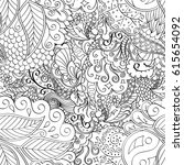 tracery seamless pattern.... | Shutterstock .eps vector #615654092