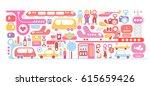 international airport... | Shutterstock .eps vector #615659426