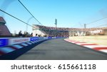 flight on the race track. very... | Shutterstock . vector #615661118