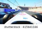 race car. very fast driving. 3d ... | Shutterstock . vector #615661166