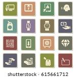 e commerce vector icons for... | Shutterstock .eps vector #615661712