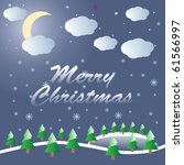 merry christmas | Shutterstock .eps vector #61566997