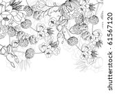 floral background | Shutterstock .eps vector #61567120