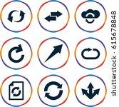 reload icons set. set of 9...