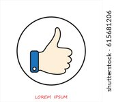 line icon  thumb up | Shutterstock .eps vector #615681206