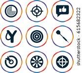 aim icons set. set of 9 aim... | Shutterstock .eps vector #615682322