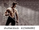 the perfect male body   awesome ... | Shutterstock . vector #615686882